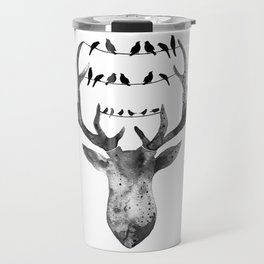 Deer with birds Travel Mug