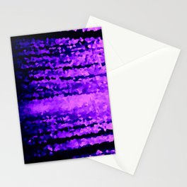 Purple Crystal Pixels Stationery Cards