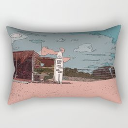 BEACH AND A SURF Rectangular Pillow