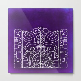 Threshold Guardian (purple) Metal Print