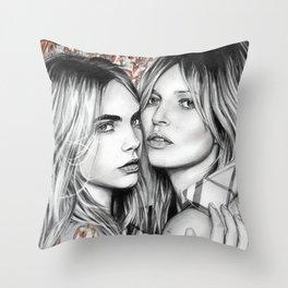 Kate and Cara Throw Pillow