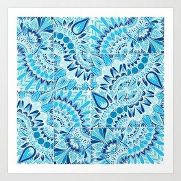 Inverted Ocean Mandalas Art Print