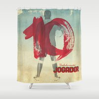 soccer Shower Curtains featuring Color Soccer by Fernando Macedo