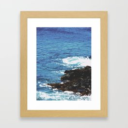 Rocky Shoreline Framed Art Print