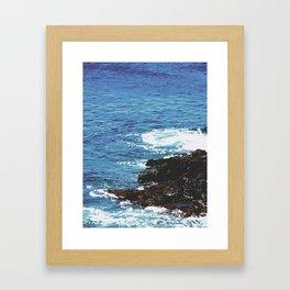 Rocky Shoreline Framed Art Print
