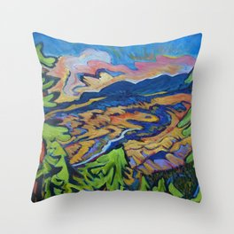 Fire Dragon, Pine Mtn. Throw Pillow