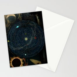 """""""Planetary System, Eclipse of the Sun, the Moon, the Zodiacal Light, Meteoric Shower"""" by Levi Walter Yaggi, 1887 Stationery Cards"""