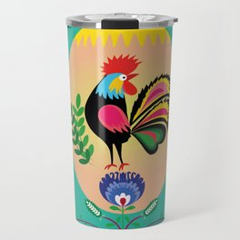 Polish Folk - Decorative Easter Egg Travel Mug