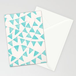 Pennants Banner Repeat Pattern Stationery Cards