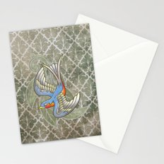 Sparrow tattoo Stationery Cards
