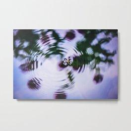 Waterbug on Water Surface Metal Print