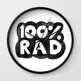100 % RAD - Bubble Wall Clock