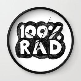 100 % RAD - Bubble Wall Clock