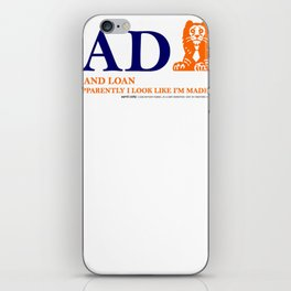 Dad Bank Funny Father Money Gift Logo iPhone Skin