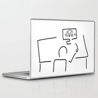 engineer Laptop & iPad Skins featuring mechanical engineering engineer by Lineamentum