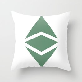 Ethereum Classic (ETC) Logo Throw Pillow