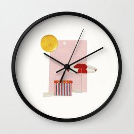 on holiday Wall Clock