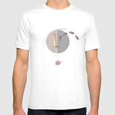 Gravity | Collage White MEDIUM Mens Fitted Tee