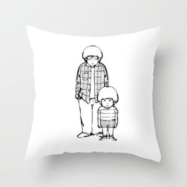 me and i Throw Pillow