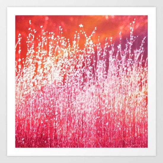 Grasses Sundae Art Print