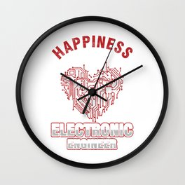 Electrician Electrical Circuit Repairman Tradesman Gift Happiness Is Being An Electronic Engineer Wall Clock