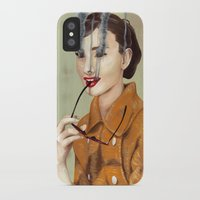 audrey hepburn iPhone & iPod Cases featuring Audrey Hepburn by FAMOUS WHEN DEAD
