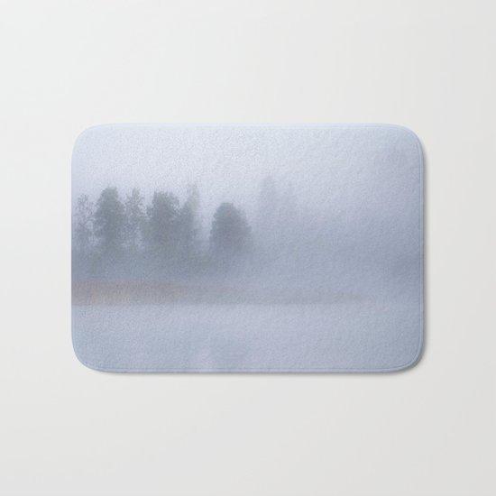 Autumn Foggy Morning Bath Mat