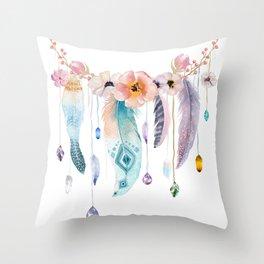 Atherstone Feather Spirit Gazer Throw Pillow