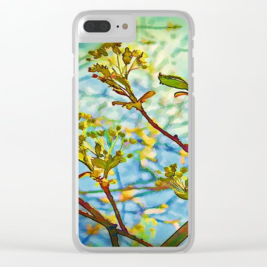 Budding Branches Clear iPhone Case