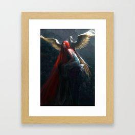 Red Falls Framed Art Print