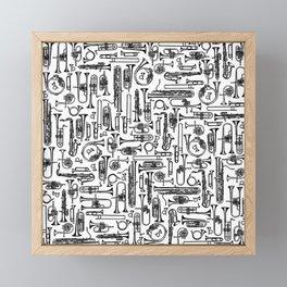 Horns B&W II Framed Mini Art Print