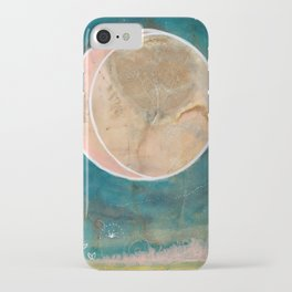 Pink Eco Print Moon iPhone Case