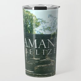 LAMANAI: Mask Temple Travel Mug