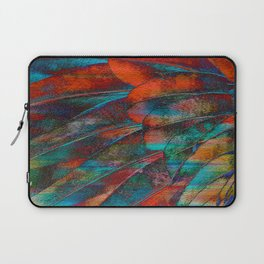 Scarlet Macaw Parrot Feather Abstract Laptop Sleeve