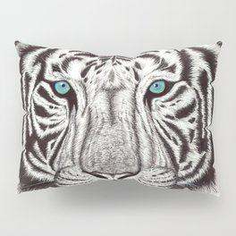 White Tiger Pillow Sham