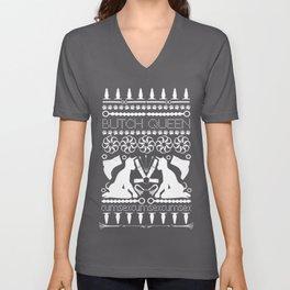 2015 BQ Ugly Sweatshirt (white) Unisex V-Neck