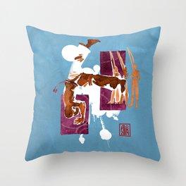 Capoeira 556 Throw Pillow