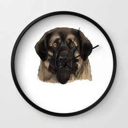 Watercolor Leonberger Dog Wall Clock