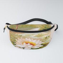 Vintage Waterlilies Fanny Pack