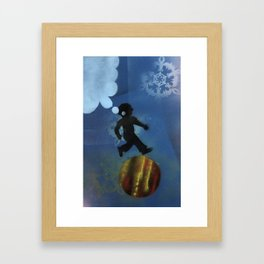 Boy Jumps Over Moon Framed Art Print