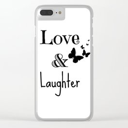 Love & Laughter Clear iPhone Case