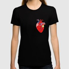 Heart Womens Fitted Tee Black X-LARGE