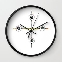 Sacrificed Eyes Wall Clock