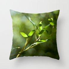 Bamboo Shadows Throw Pillow