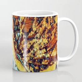 3585s-HS Lake Superior Nude Woman on Rocky Shore Impressionistic Rendering Coffee Mug