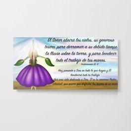 Niña flor del cielo - Deuteronomio 28, 12 Metal Print