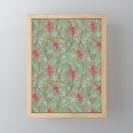 Red Gum Floral Framed Mini Art Print