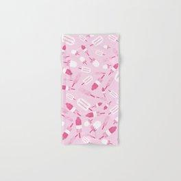 Ice Creams Duotone Pattern Hand & Bath Towel