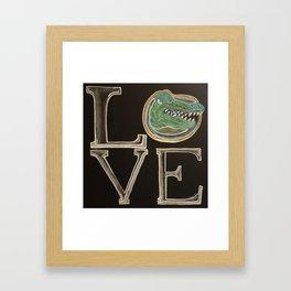 gator love chalk Framed Art Print