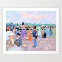 The Races At Longchamp - Jean-Louis Forain Art Print